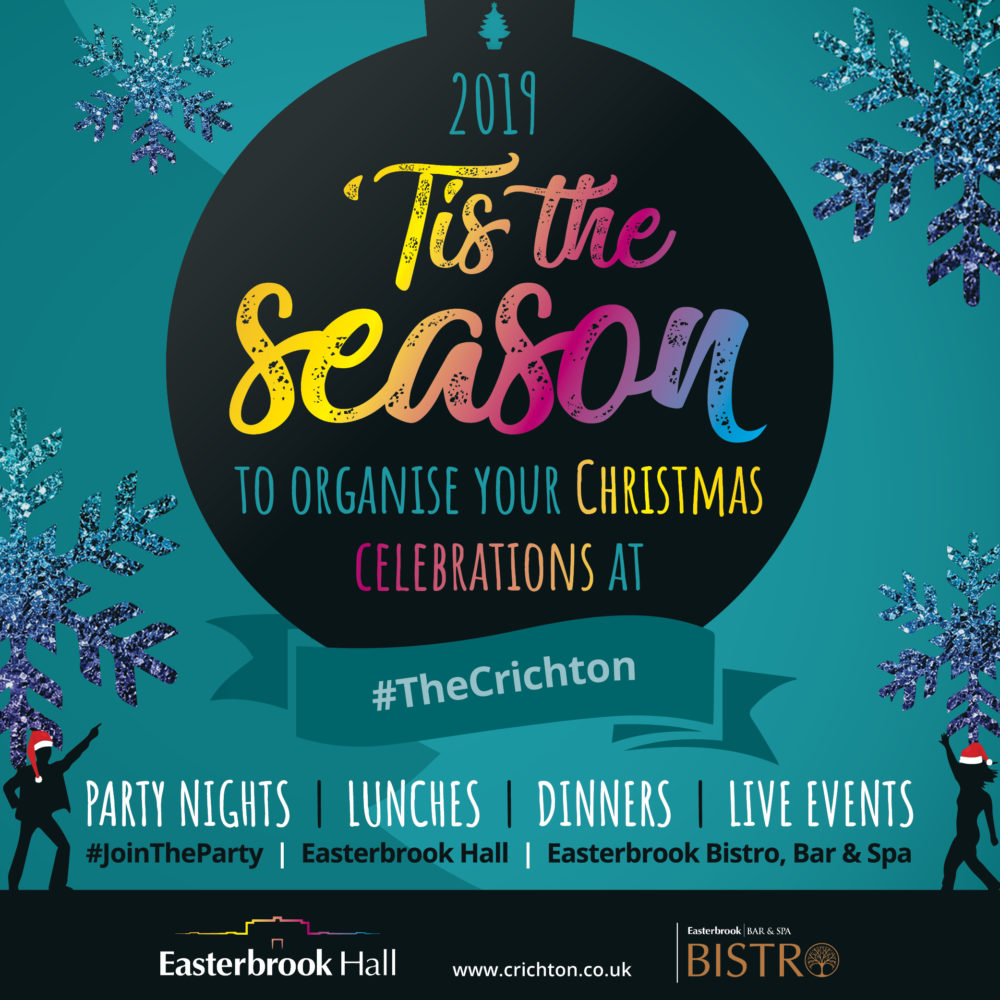 Christmas Party 2019 Logo.Christmas Parties Festive Dinners 2019 The Crichton Trust